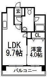北海道札幌市中央区南十条西1丁目の賃貸マンションの間取り