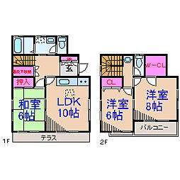 [一戸建] 神奈川県横浜市緑区寺山町 の賃貸【/】の間取り