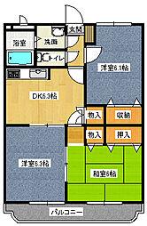 アイディアルノーブル[4階]の間取り