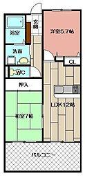 志井ガーデンヒルズ[2階]の間取り