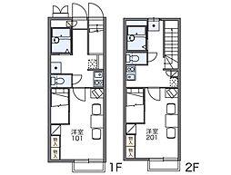 レオパレスグリーンレーベル[2階]の間取り