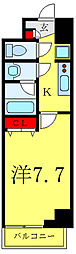 JR埼京線 板橋駅 徒歩5分の賃貸マンション 9階1Kの間取り