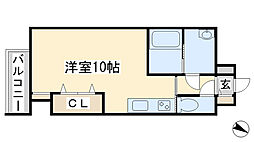 コ−トハウス中島[6階]の間取り