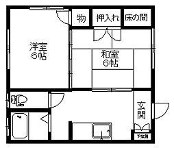 新潟県新潟市中央区本馬越2丁目の賃貸アパートの間取り