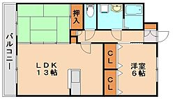 フォルトアーク2[1階]の間取り
