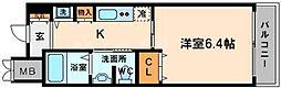 ルナコート江戸堀[4階]の間取り