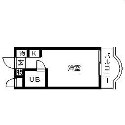 東京都葛飾区白鳥2の賃貸マンションの間取り