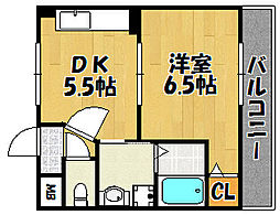 兵庫県明石市松の内1丁目の賃貸マンションの間取り