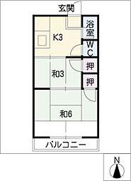 太田荘[2階]の間取り