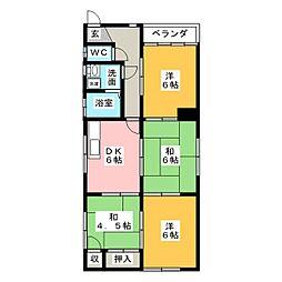 小山マンション[2階]の間取り