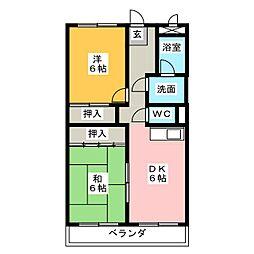 サンシャインミナミ[7階]の間取り