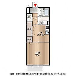 前田ハイツ[2階]の間取り