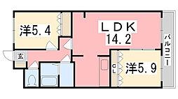 グランドールA[2階]の間取り