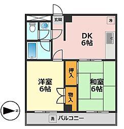 東京都江戸川区新堀2丁目の賃貸マンションの間取り