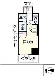 ベレーサ築地口ステーションタワー[5階]の間取り