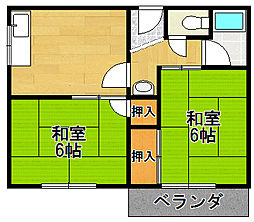 松崎マンション[3階]の間取り