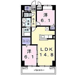畑田町店舗付マンション[0607号室]の間取り