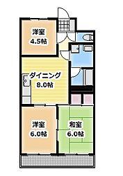 マンション松[102号室]の間取り