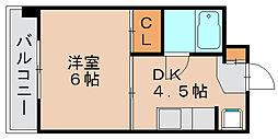 ステーションサイド吉塚[4階]の間取り