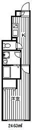 東京メトロ有楽町線 氷川台駅 徒歩8分の賃貸マンション 1階1Kの間取り
