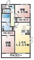 千葉県船橋市飯山満町2丁目の賃貸アパートの間取り