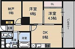 チサンマンション新大阪十番館[10階]の間取り