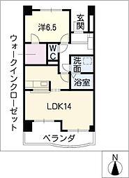サニーブライト[4階]の間取り