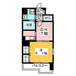 プレステージ東比恵[8階]の間取り