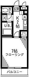 コージーハウス南成瀬[203号室]の間取り