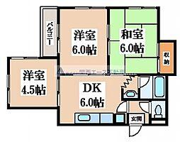 マンション京道[2階]の間取り