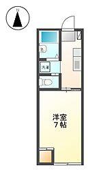 東京都小金井市前原町3丁目の賃貸アパートの間取り