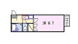 キャトルセゾン福崎[202号室]の間取り