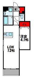 グランステージ宇美駅前 1階1LDKの間取り