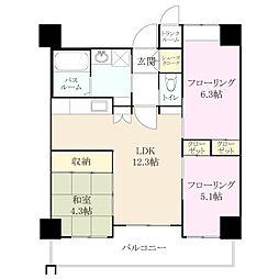 クラシオン小笹山手 3番館[3階]の間取り