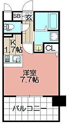 エンクレスト薬院大通(807)[8階]の間取り