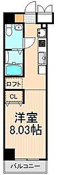 レジディア上野御徒町[603号室]の間取り