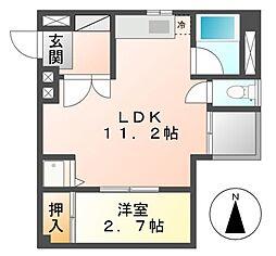 メゾンレーブ[4階]の間取り
