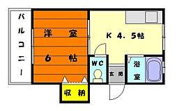 第一コーポ[1階]の間取り