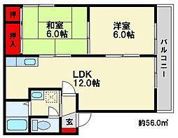 エクセル1091[2階]の間取り