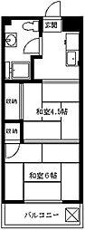 行徳マンション[5階]の間取り