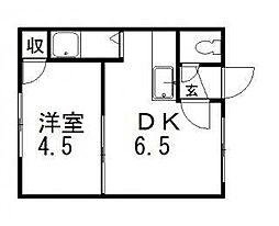 メゾンファルス[1階]の間取り