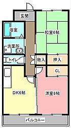 静岡県浜松市中区向宿1丁目の賃貸マンションの間取り