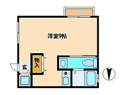 埼玉県さいたま市中央区上落合5丁目の賃貸アパートの間取り