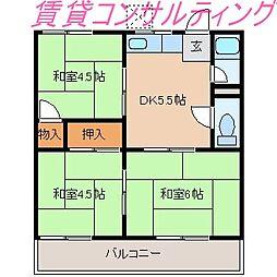 コーポ永井[2階]の間取り