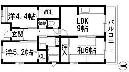 フレール宝塚御殿山[2階]の間取り