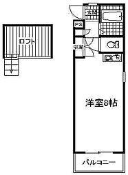 フローラFUJI[A205号室]の間取り
