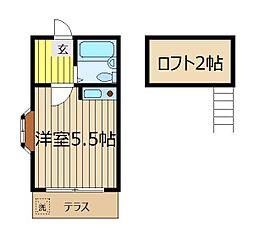 埼玉県志木市本町4丁目の賃貸アパートの間取り