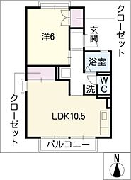 セジュール田中C棟[2階]の間取り