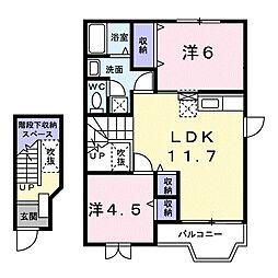 ホ−ス ブリッジII[2階]の間取り