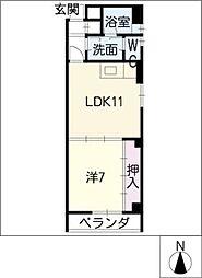 ジュネスKOKAMO[3階]の間取り